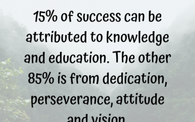 The 15/85 Rule of Success